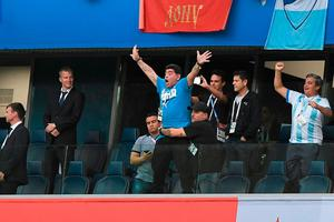 Diego Maradona S Wild Celebration Sums Up How Much Tonight S Dramatic Late Win Meant To Argentina Independent Ie